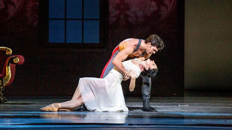 "Alberto Velazquez and Victoria Jaiani in the Joffrey Ballet's ""Anna Karenina."" (Photo by Cheryl Mann)"