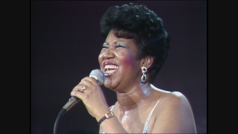 "Aretha Franklin performs in a 1985 WTTW production of ""Soundstage."""