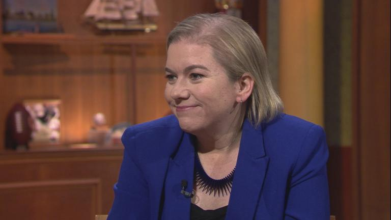 "Chicago Department of Public Health Commissioner Dr. Allison Arwady appears on ""Chicago Tonight"" on March 11, 2020. (WTTW News)"