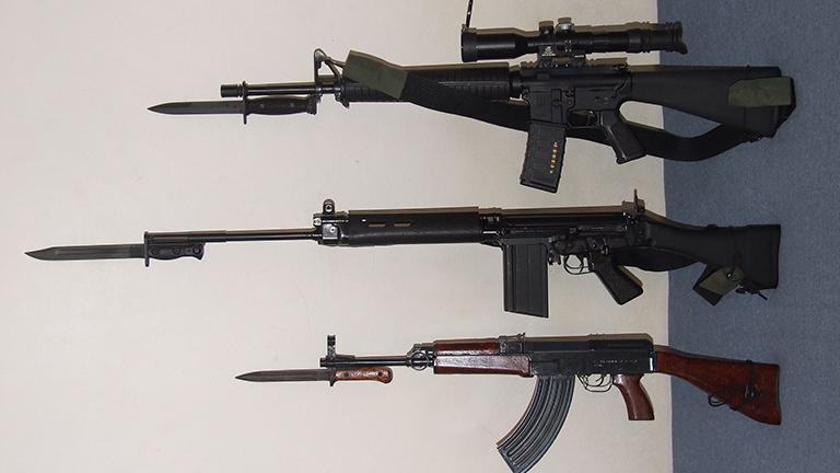 Assault rifles (Jan Hrdonka via Wikimedia Commons)