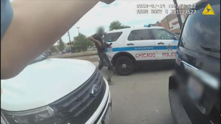 A still image taken from body camera footage released Sunday, July 15, 2018, by the Chicago Police Department shows a fatal police-involved shooting one day earlier.