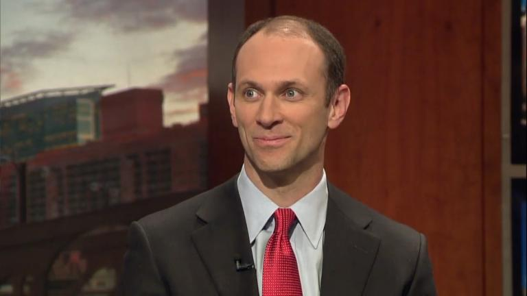 "Austan D. Goolsbee appears on ""Chicago Tonight"" in April 2013."