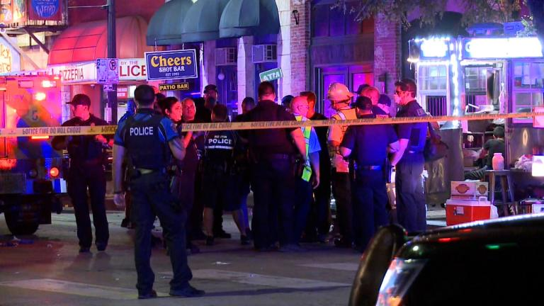 Downtown Austin, Texas, had a shooting with at least 13 victims. (Credit Metro Video Services, LLC.  Austin Division)
