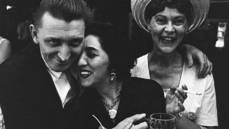 Untitled (man with arms around two women), 1950-60′s. Photo by Lee Balterman