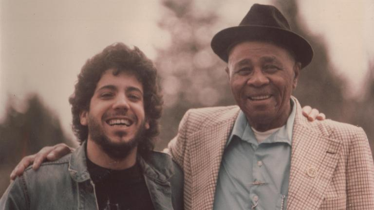 Barrelhouse Chuck, left, and Sunnyland Slim.