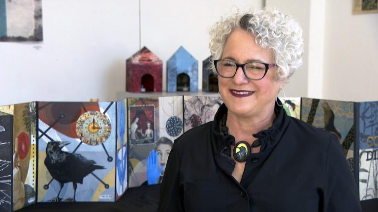 Artist Beth Adler. (WTTW News)
