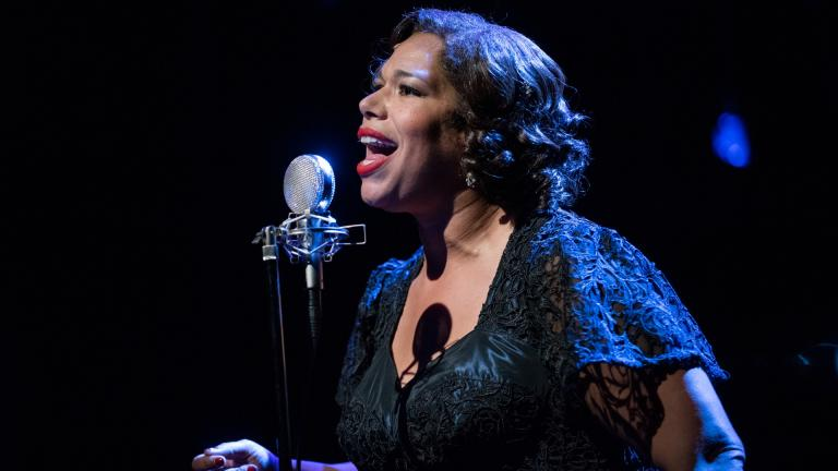 """Bethany Thomas performs in """"Songs for Nobodies."""" (Photo credit: Michael Brosilow)"""