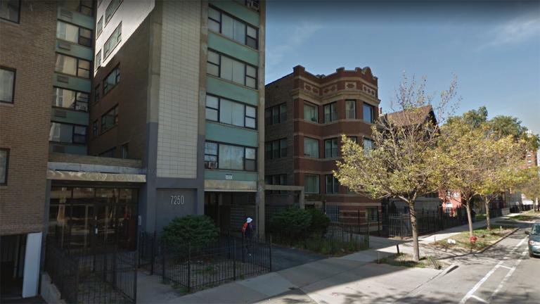The apartment complex at 7250 S. South Shore Drive was one of dozens of properties purchased by the Ohio-based Better Housing Foundation. (Google Street View)