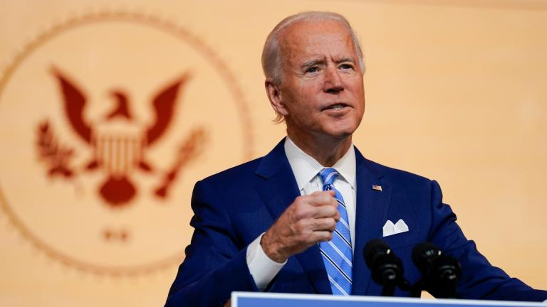 President-elect Joe Biden speaks at The Queen theater Wednesday, Nov. 25, 2020, in Wilmington, Del. (AP Photo / Carolyn Kaster)