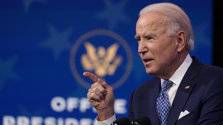 President-elect Joe Biden speaks at The Queen Theater in Wilmington, Del., Tuesday, Dec 22, 2020. (AP Photo / Carolyn Kaster)