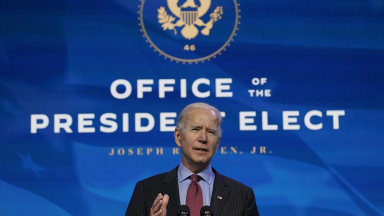President-elect Joe Biden speaks during an event at The Queen theater in Wilmington, Del., Friday, Jan. 8, 2021, to announce key administration posts. (AP Photo / Susan Walsh)