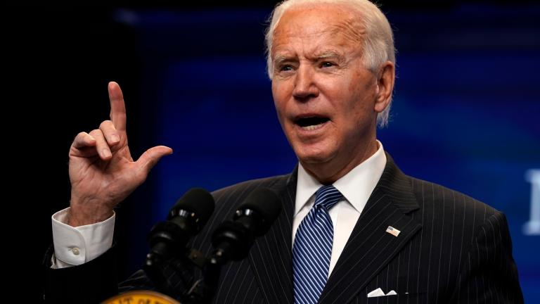 President Joe Biden speaks during an event on American manufacturing, in the South Court Auditorium on the White House complex, Monday, Jan. 25, 2021, in Washington. (AP Photo / Evan Vucci)