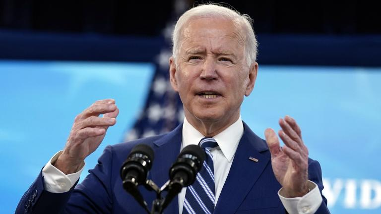 President Joe Biden speaks during an event on COVID-19 vaccinations, in the South Court Auditorium on the White House campus, Monday, March 29, 2021, in Washington. (AP Photo / Evan Vucci)
