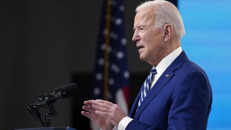 President Joe Biden speaks during an event on COVID-19 vaccinations and the response to the pandemic, in the South Court Auditorium on the White House campus, Monday, March 29, 2021, in Washington. (AP Photo  /Evan Vucci)