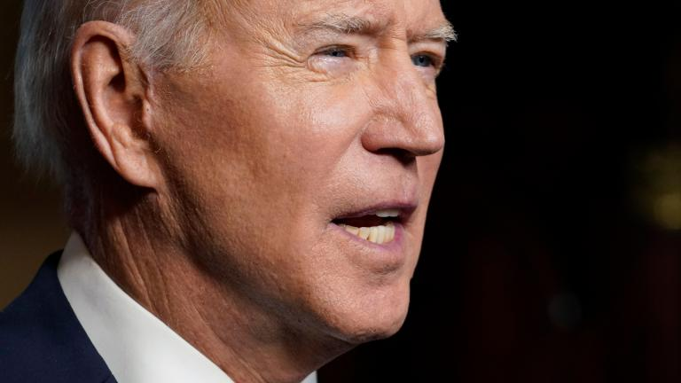 President Joe Biden speaks from the Treaty Room in the White House on Wednesday, April 14, 2021, about the withdrawal of the remainder of U.S. troops from Afghanistan. (AP Photo / Andrew Harnik, Pool)