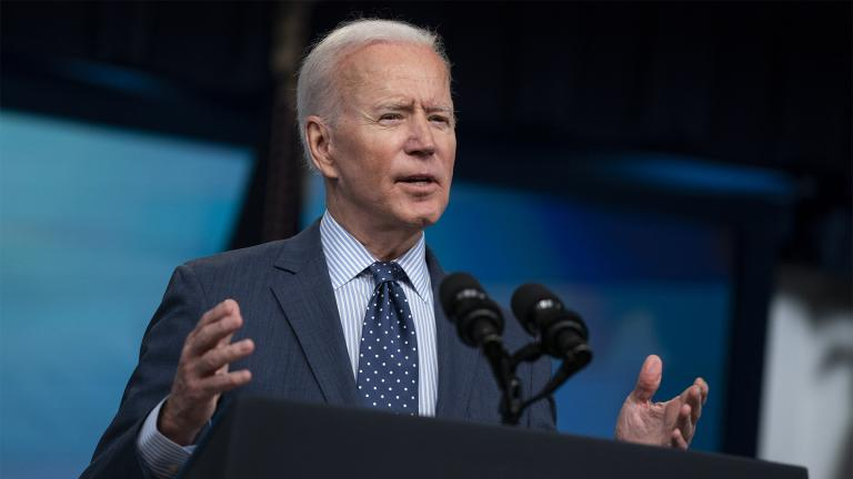 President Joe Biden speaks about the COVID-19 vaccination program, in the South Court Auditorium on the White House campus, Wednesday, June 2, 2021, in Washington. (AP Photo / Evan Vucci)