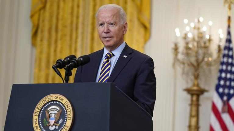 President Joe Biden speaks about the American troop withdrawal from Afghanistan, in the East Room of the White House, Thursday, July 8, 2021, in Washington. (AP Photo / Evan Vucci)