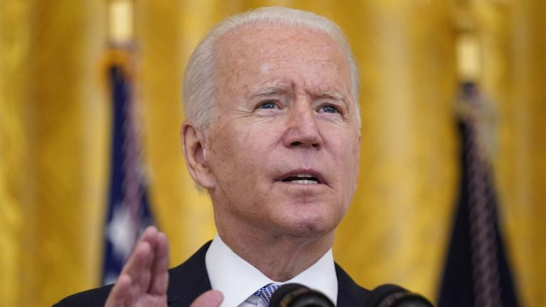President Joe Biden speaks about COVID-19 vaccine requirements for federal workers in the East Room of the White House in Washington, Thursday, July 29, 2021. (AP Photo / Susan Walsh)