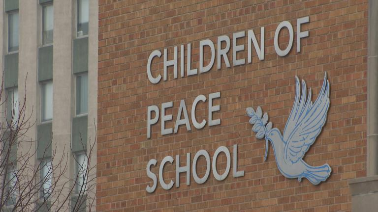 Children of Peace School on the Near West Side is one of 30 Catholic schools that will be funded through the newly announced deal. (WTTW News)