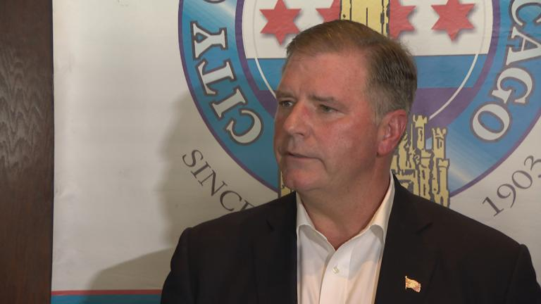 Illinois Senate Republican Leader Bill Brady speaks at the City Club of Chicago on Tuesday, June 18, 2019. (WTTW News)