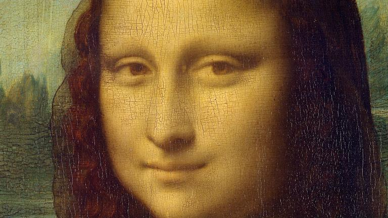 "Close-up of ""Mona Lisa"" by Leonardo da Vinci"