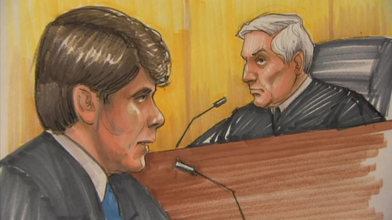 Courtroom sketch by Thomas Gianni, 2011. (WTTW News)