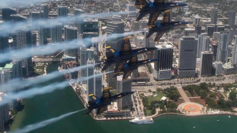 The Blue Angels will salute Chicago's front-line workers with a flyover Tuesday. (Courtesy of Blue Angels)
