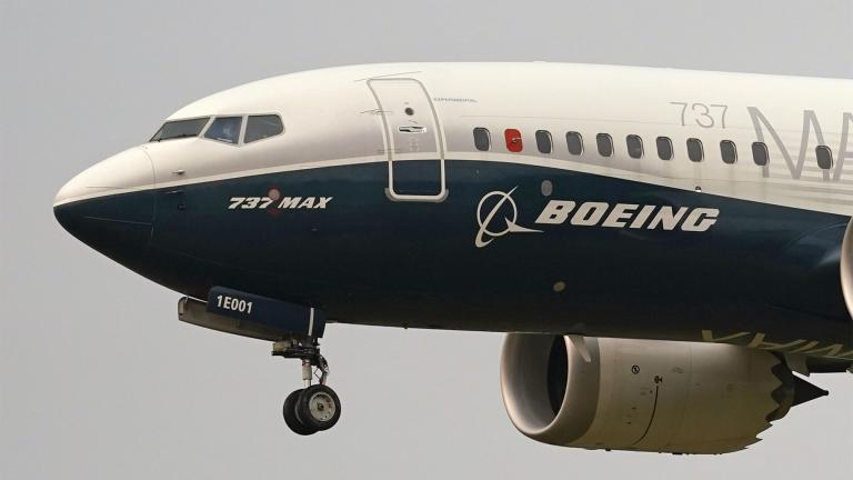 """Boeing says it has informed 16 of its customers that they should address a possible electrical issue in certain 737 Max aircraft before using them further. Boeing said Friday, April 9, 2021, that the recommendation was made """"to allow for verification that a sufficient ground path exists for a component of the electrical power system."""" (AP Photo / Elaine Thompson, File)"""