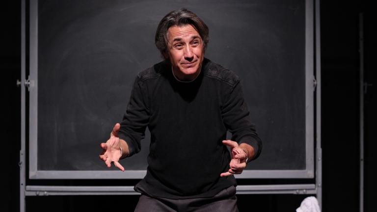 """Robert Dubac in """"The Book of Moron."""" (Courtesy of Broadway in Chicago)"""