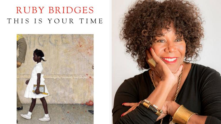 "This combination photo shows the book cover for ""This Is Your Time,"" left, and a portrait of the author Ruby Bridges. (Random House via AP)"