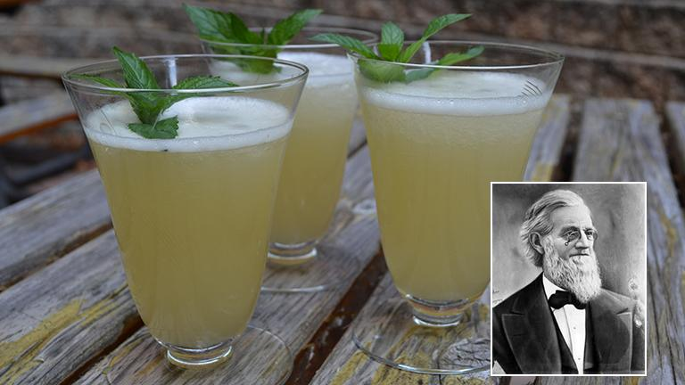 Levi Boone and the cocktail he inspired us to make.