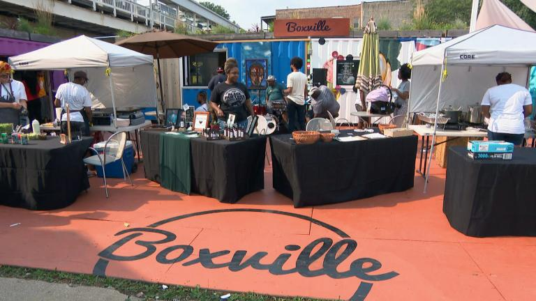 Boxville at 51st Street and Calumet Avenue in Chicago. (WTTW News)