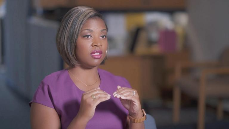 """""""Chicago Tonight"""" co-anchor Brandis Friedman is among those interviewed in the new WTTW documentary """"Making Sense of 2020."""" (WTTW News)"""