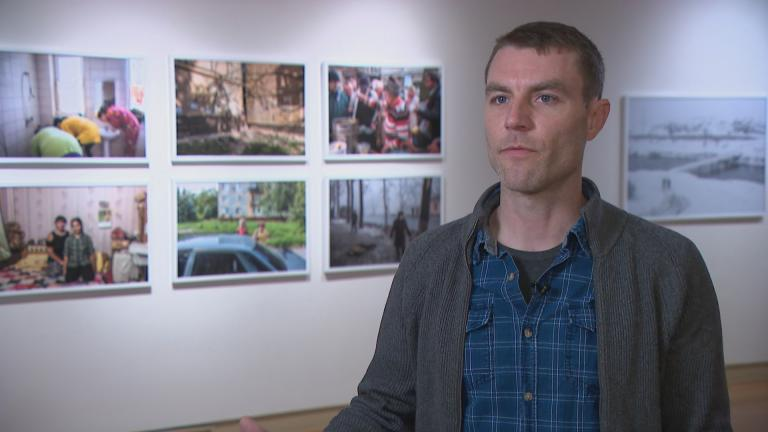 "Photographer Brendan Hoffman speaks with WTTW News about his exhibition, ""Brotherland: War in Ukraine."""