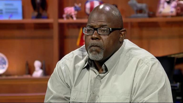 "Jitu Brown appears on ""Chicago Tonight"" in September 2015."