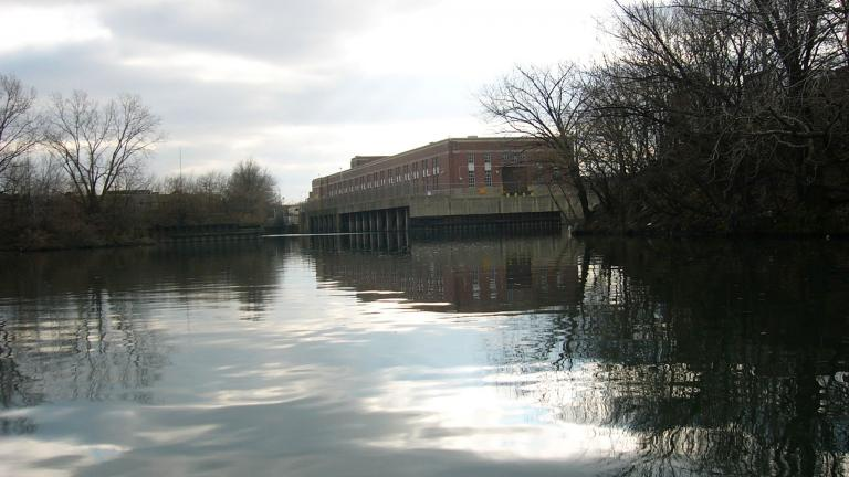 Headwaters of Bubbly Creek and the Racine Avenue Pump Station. (Courtesy of USGS)