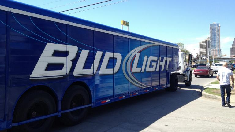 A Bud Light truck in Austin, Texas (Johan Ejermark / Flickr)