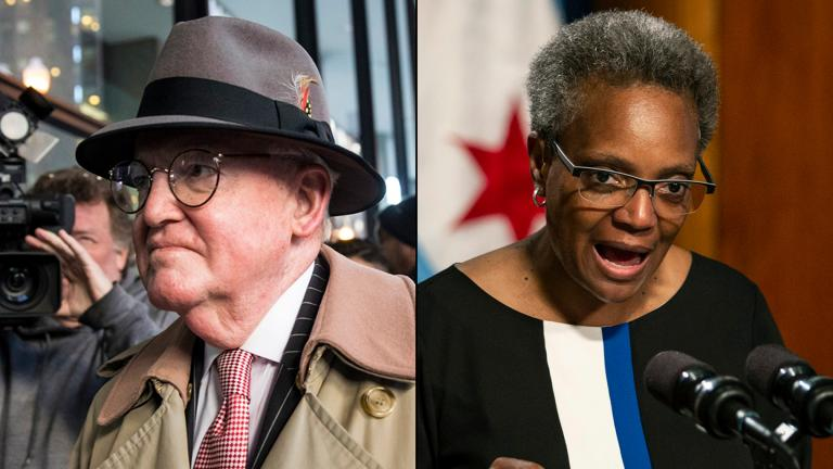 Ald. Ed Burke walks into the Dirksen Federal Courthouse on Jan. 3, 2019. Mayor Lori Lightfoot holds a press conference May 31, 2019 at City Hall to address the federal indictment filed against Burke and demand he resign immediately. (Ashlee Rezin / Chicago Sun-Times via AP)