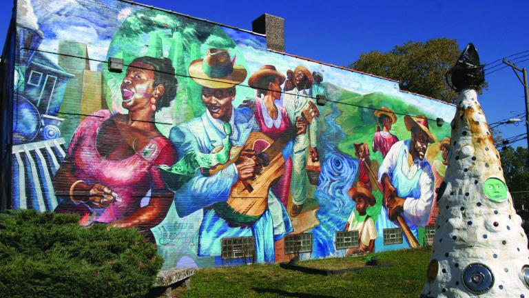 The 50x50 Neighborhood Arts Project aims to bring more public art to all of Chicago's neighborhoods, including murals like this one in Bronzeville. (Courtesy of the City of Chicago)