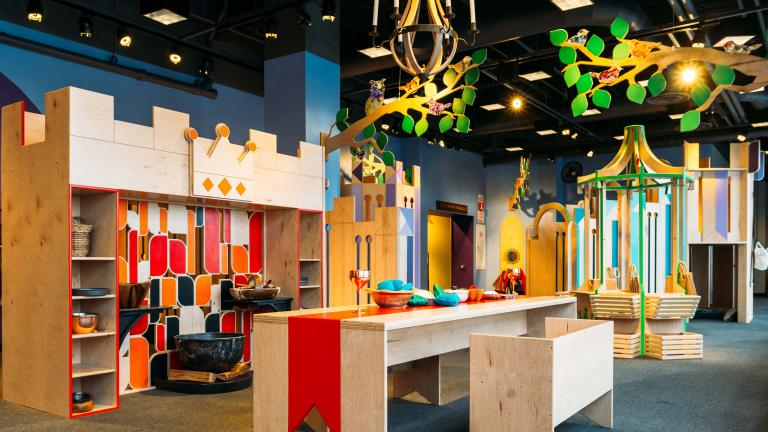 """The exhibition """"Once Upon a Castle"""" avoids imposing gender stereotypes and norms onto children. (Courtesy of Chicago Children's Museum)"""