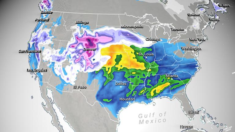 Parts of Wyoming and Nebraska are under blizzard warnings while there are Winter Storm Warnings and Advisories in effect for other parts of the region, CNN meteorologist Tyler Mauldin said.