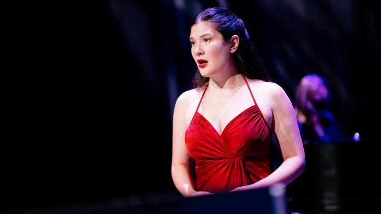 "Mezzo-soprano Annie Rosen in ""Rimsky Rebooted."" (Credit: Sean Su for Chicago Opera Theater)"