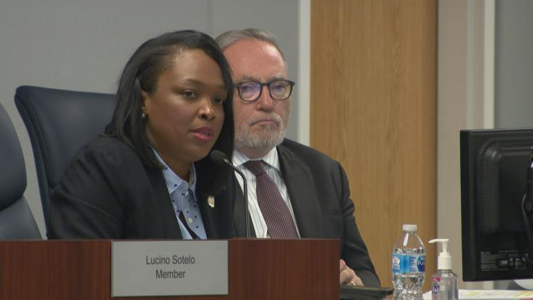 Chicago Public Schools CEO Janice Jackson speaks at a Chicago Board of Education meeting Wednesday, June 26, 2019.