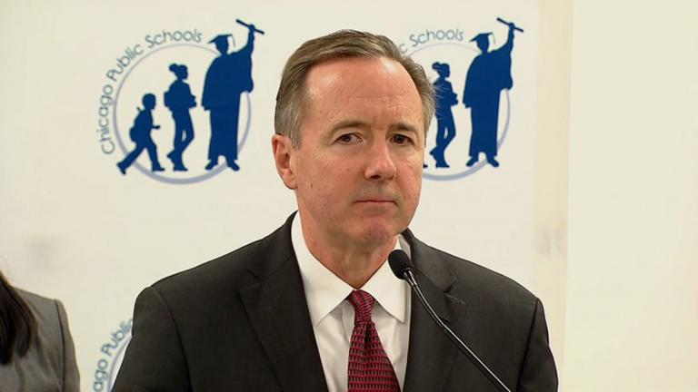 Chicago Public Schools CEO Forrest Claypool announced Friday district employees will be furloughed on four days spread throughout the rest of this school year. (Chicago Tonight)