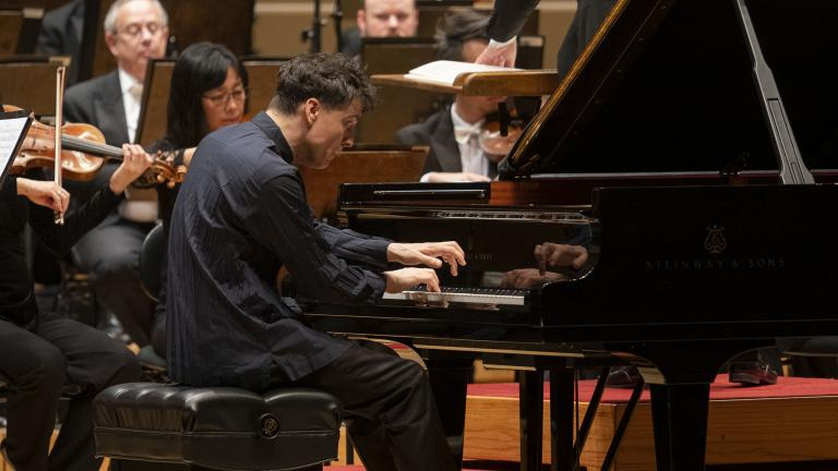 Pianist Paul Lewis performs Beethoven's Piano Concerto No. 1 with the Chicago Symphony Orchestra on a program that also featured Lewis as soloist in Beethoven's Piano Concerto No. 4. (Photo credit: Todd Rosenberg)