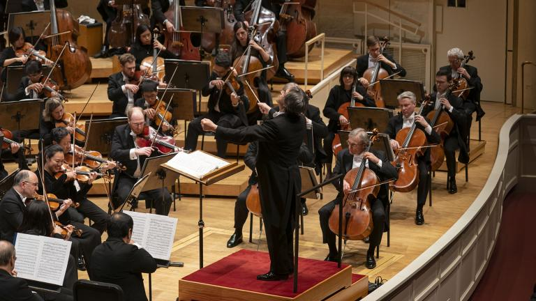 Zell Music Director Riccardo Muti conducts the Chicago Symphony Orchestra in a program featuring Beethoven's Second and Fifth Symphonies on Feb. 20, 2020. (Credit: Todd Rosenberg)