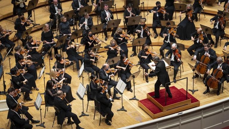 Music Director Riccardo Muti and the Chicago Symphony Orchestra perform Tchaikovsky's Symphony No. 6 (Pathétique) as part of Muti's final program in his fall 2021 residency. (Credit Todd Rosenberg Photography)