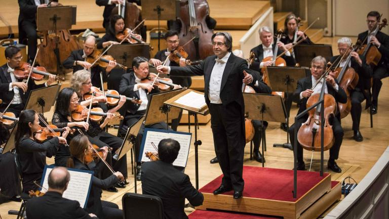 "Music Director Riccardo Muti leads the CSO in Mozart's ""Symphony No. 36"" on March 15, 2018. (Credit: Todd Rosenberg Photography)"