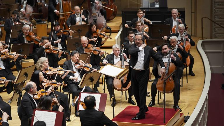 "Music Director Riccardo Muti leads the CSO in Respighi's ""Pines of Rome."" (Photo © Todd Rosenberg)"