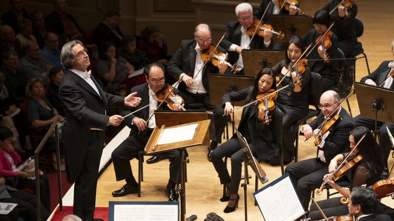Zell Music Director Riccardo Muti leads the CSO in an all-Beethoven program on Sept. 26, 2019 in Orchestra Hall. (Photo by Todd Rosenberg)